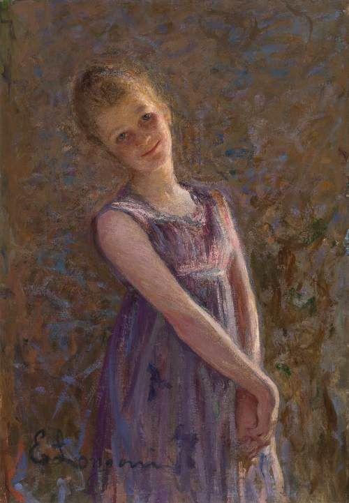 """Emilio Longoni (1859-1932) """"Studio dal vero"""" Milano, Galleria d'arte moderna"""