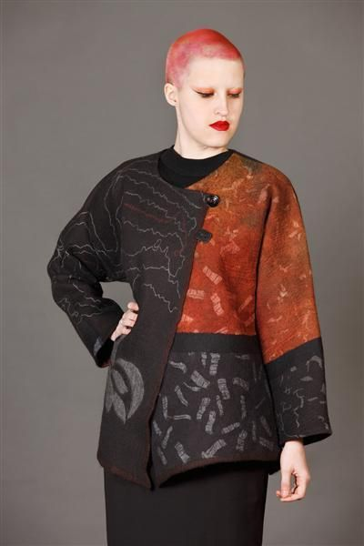 Wednesday look - a touch of orange - Gallery of Catherine O'Leary Designs – Textile Art and Fashion in Melbourne