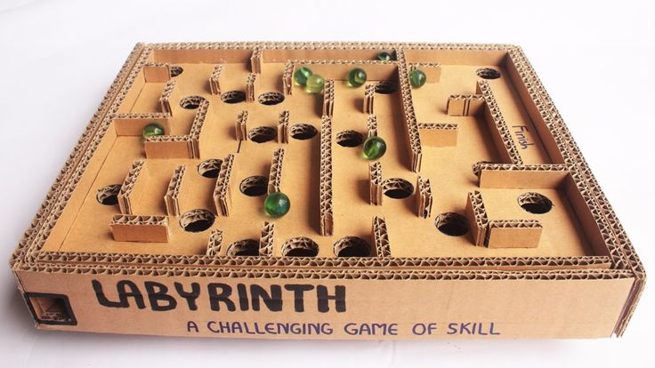 How to Make a Cardboard Box Marble Labyrinth Game - Tutorial - Just5mins