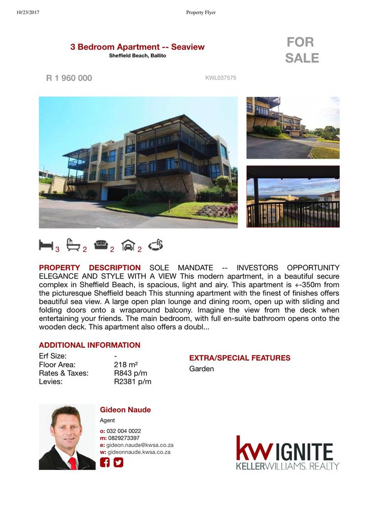 INVESTORS OPPORTUNITY ELEGANCE AND STYLE WITH A VIEW