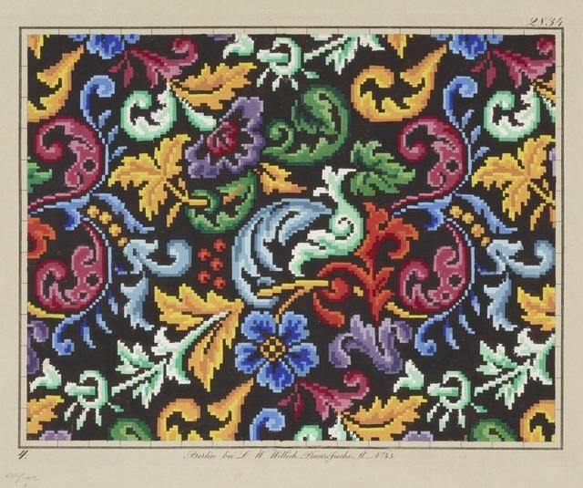 Object: Needlework pattern | Collections Online - Museum of New Zealand Te Papa Tongarewa