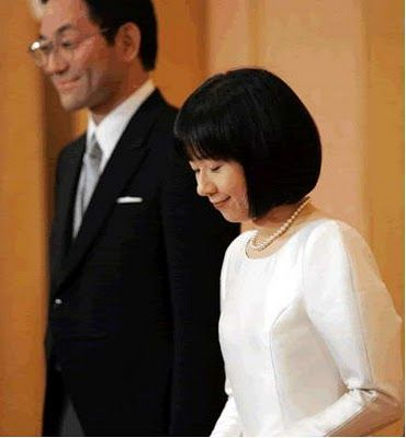 PRINCESS SAYAKO OF JAPAN & YOSHIKI KURODA  November 15, 2005  After her wedding, the princess actually gave up her imperial title and left the Japanese Imperial Family, as required by law.