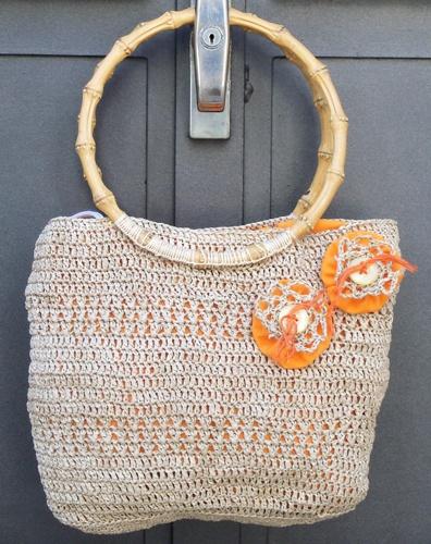 "RAFFIA  CROCHET BAG ""$25""  Made in Italy"