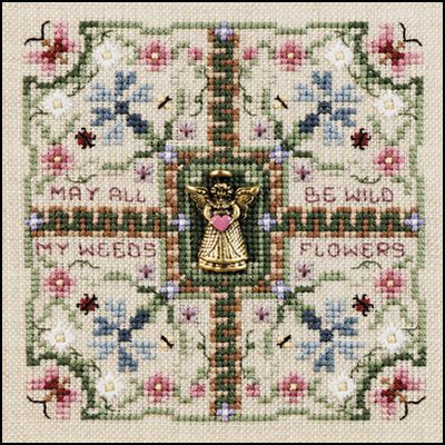 Just Nan - Wildflower Wishes • Counted Thread Cross Stitch from Just Nan