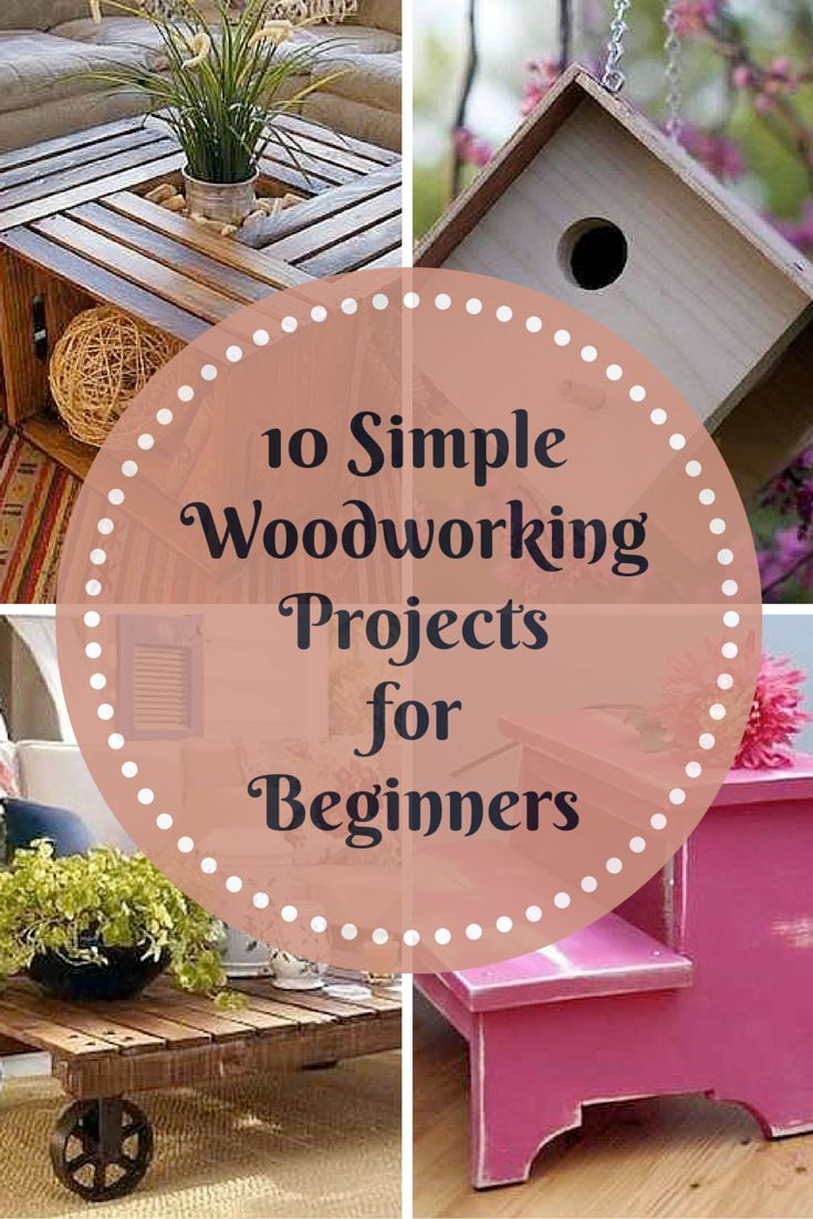 These simple woodworking projects are easy for almost any beginner to master. If you don't have a lot of experience with power tools, you can ask the hardware store to cut your boards according to the measurements you'll need.