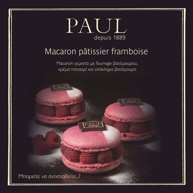 Μπορεί ένα macaron να γίνει ακόμη πιο νόστιμο...?  Bien sûr!  Νέα άφιξη στο Paul: Macaron pâtissier framboise Εσείς, μπορείτε να αντισταθείτε...?
