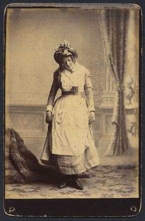 Auckland Amateur Theatricals [woman with flowery bonnet]