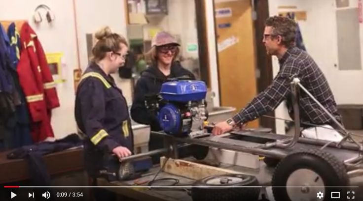 Discover Trades - unique program in Tumbler Ridge, BC allows grade 9 students to complete their second semester of schooling through the trades. They apply math, English, technology and trades skills to complete their go-karts!