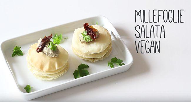 Millefoglie vegana salata