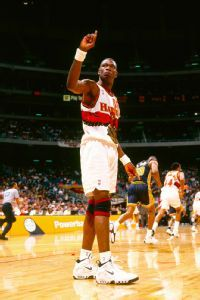 Dikembe Mutombo and the wave.