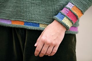 Inspired by the color test patterns on television screens of the 1960s, this pullover is a primer for intarsia. The fabric is stockinette-based so this is truly quick knitting with lots of personality.
