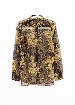 Kup mój przedmiot na #vintedpl http://www.vinted.pl/damska-odziez/koszule/13344578-3-za-2-czarno-zlota-koszula-mgielka