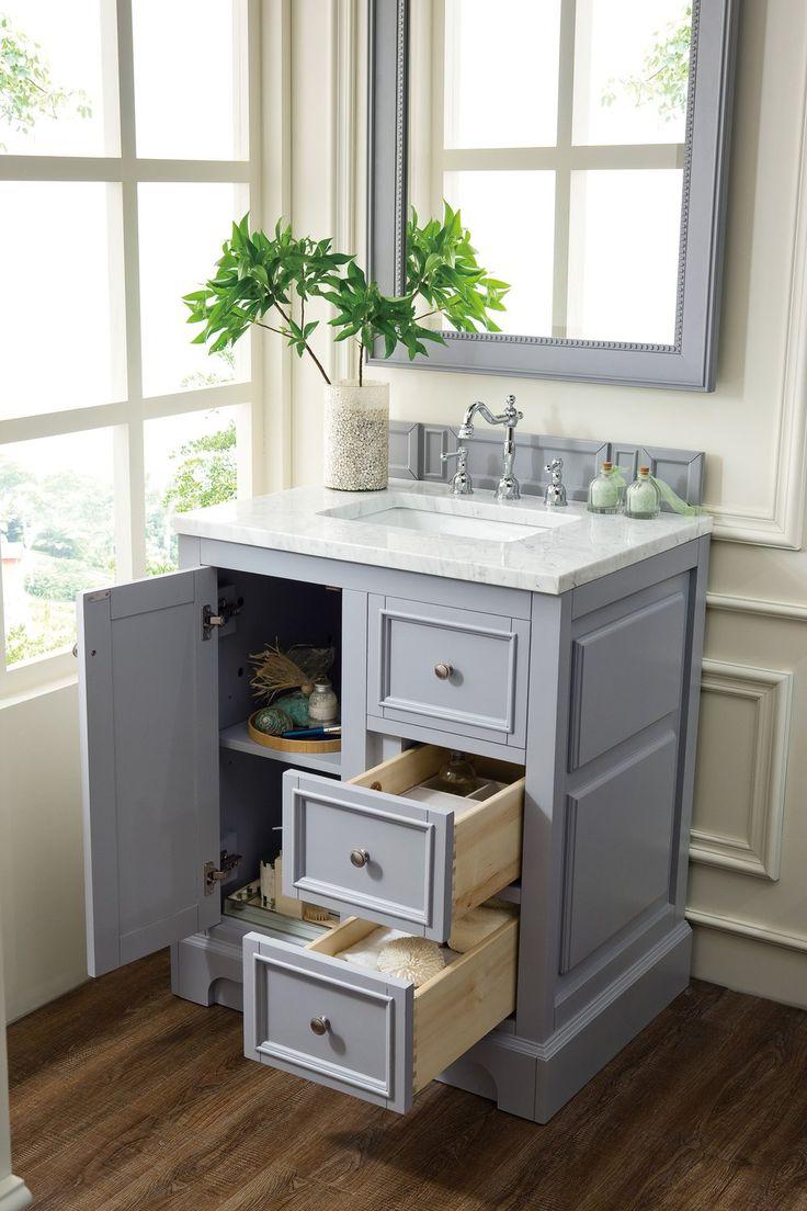 """30"""" De Soto Silver Gray Single Sink Bathroom Vanity in"""