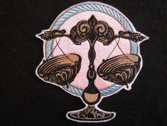 Tribal Taurus Zodiac Iron-On Patch