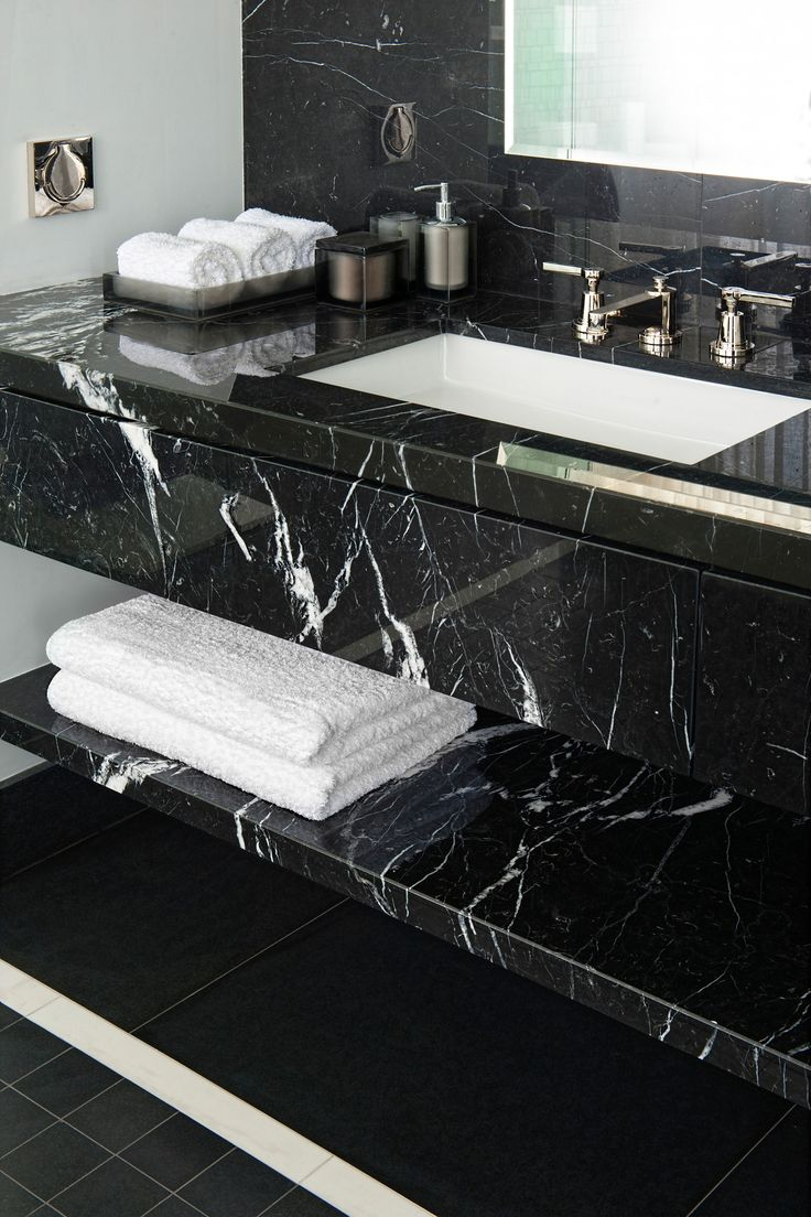 Best 20 black marble ideas on pinterest - Black marble bathroom countertops ...