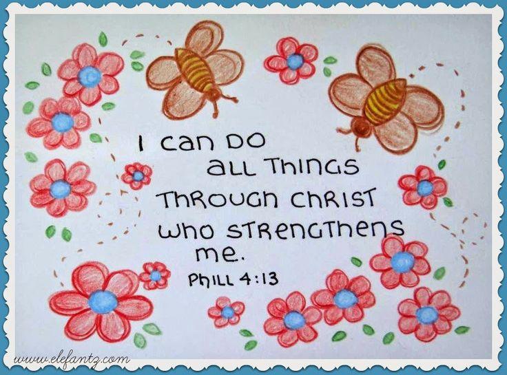 Jenny of ELEFANTZ: Sunday Scripture ~ Phillipians 4:13