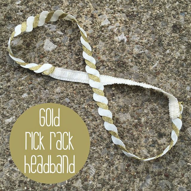 Woodland Flower: rick rack headband
