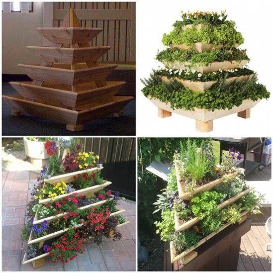 Creative Idea of Home Gardening - Triolife Plant Pyramid #garden #vertical-garden #Triolife