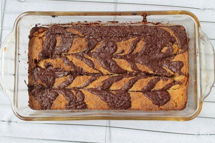 Gooey chocolate banana swirl cake (Paleo and vegan)