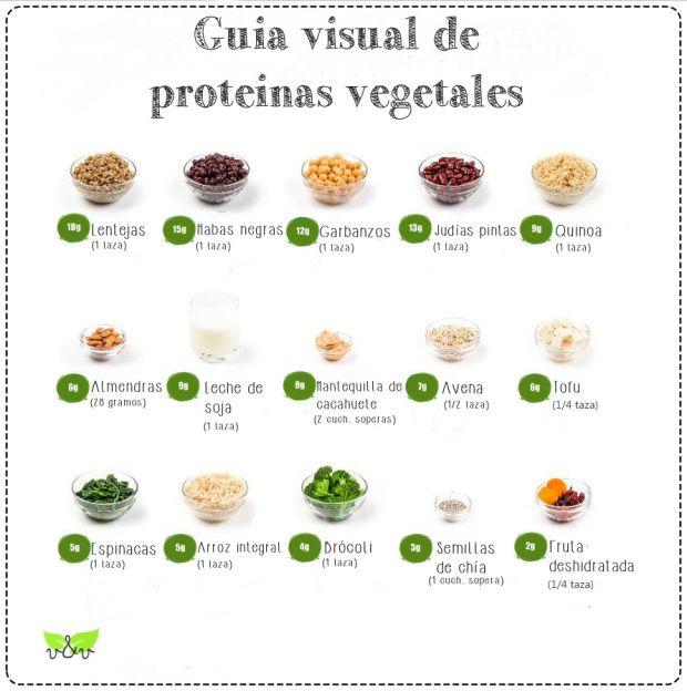 Gu a visual de prote nas vegetales informaci n importante pinterest - Q alimentos son proteinas ...