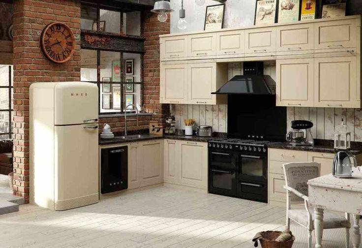 Smeg Kühlschrank Gefrierkombination : Neu kühl gefrierkombination retro look küchen ideen