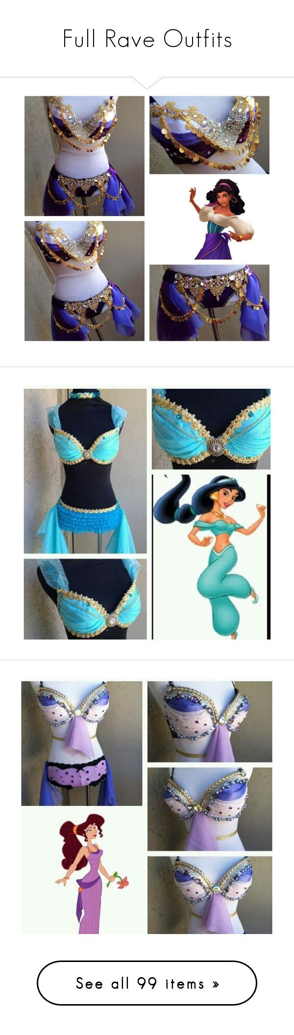 """""""Full Rave Outfits"""" by real-ruby-horan ❤ liked on Polyvore featuring costumes, dresses, rave, outfits, sexy princess costumes, ariel costume, tomorrowland, carnival costumes, sexy costumes and party costumes"""