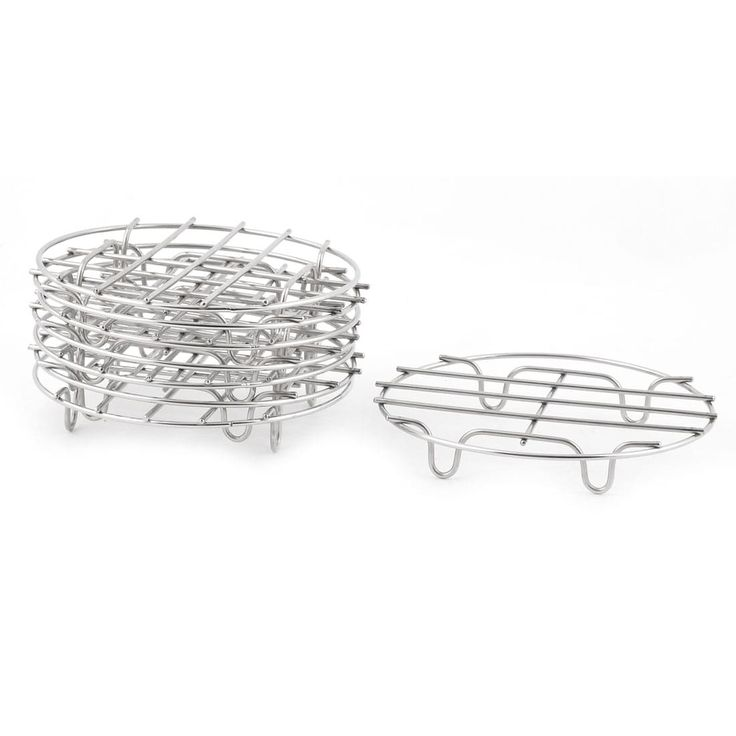 Stainless Steel (Silver) Cooker Steam Rack Cooking Ware Steaming Rack Stand 8 PCS