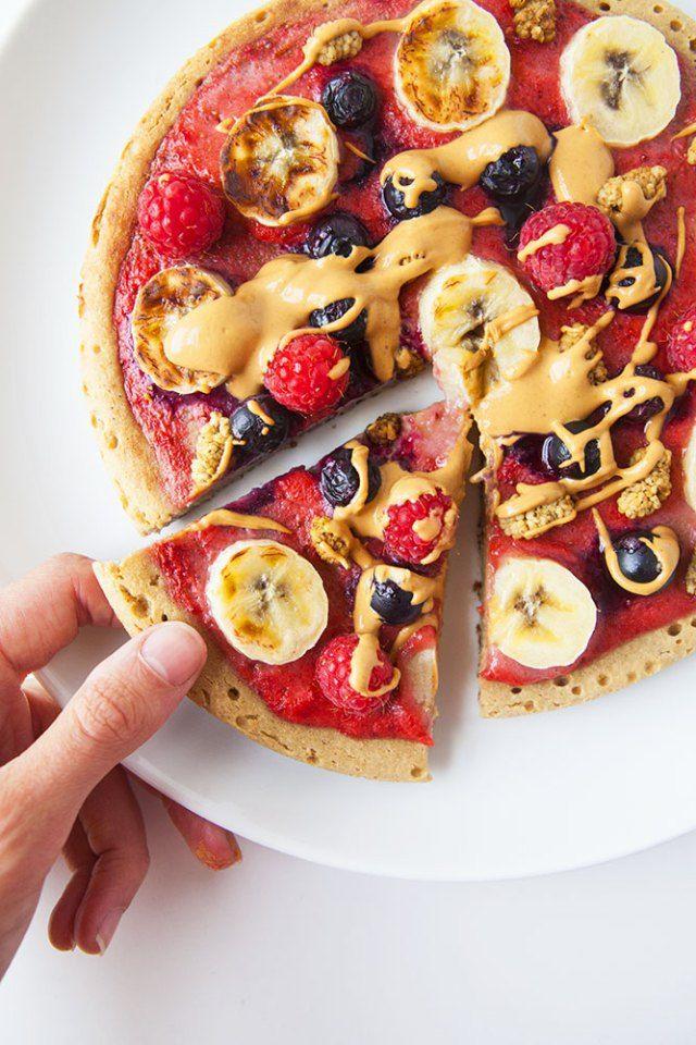 Oaty Breakfast Pizza