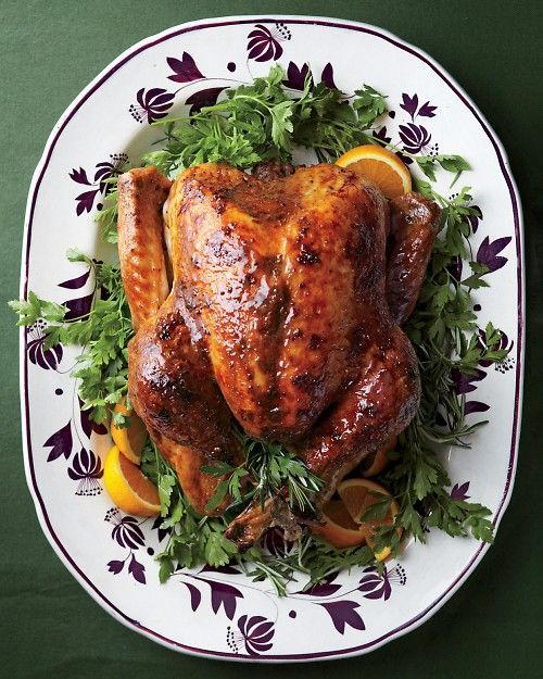 Who says turkey is just for Thanksgiving? It looks just as great on the Christmas table, too! Try this Turkey with Brown-Sugar Glaze