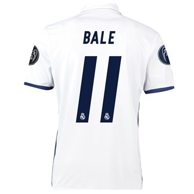 Real Madrid Home UEFA Champions League Shirt 2016-17 - Kids with Bale: with Bale 11 printing #Sport #Football #Rugby #IceHockey