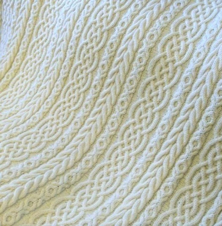 Celtic Aran Cable Knit Afghan   Bluprint