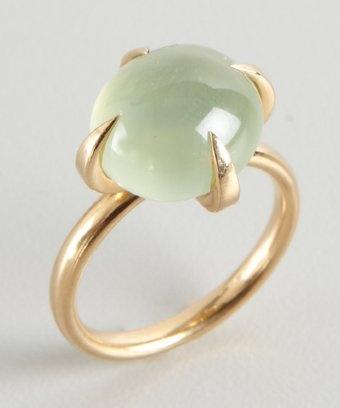 Pomellato : gold and green quartz 'Moon' ring