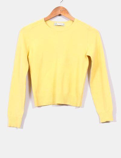 Jersey amarillo básico  Zara