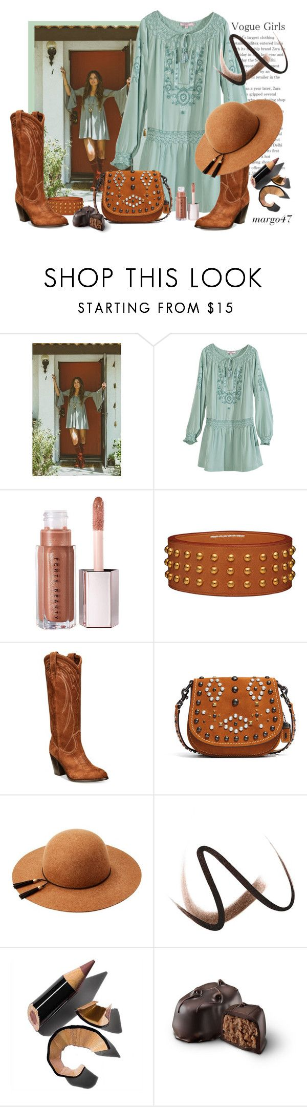 """""""boho"""" by margo47 ❤ liked on Polyvore featuring Calypso St. Barth, Frye, Coach 1941, Burberry and Bobbi Brown Cosmetics"""