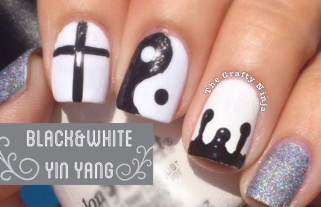 Black and White Yin Yang Nails | The Crafty Ninja