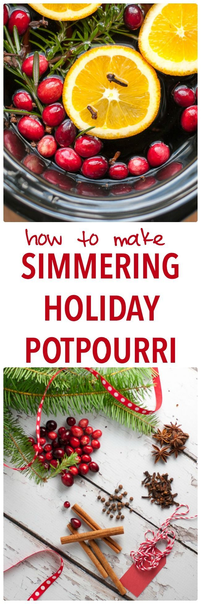How to Make Simmering Holiday Potpourri on your stove top or in your slow cooker. Makes your home smell like Christmas! Includes printable gift tags, too. #simmering #Christmas #potpourri #stovetop #slowcooker #crockpot #cinnamon #cloves #oranges #cranberries #staranise #printable #DIY #GiftTags #easy #packaging #HouseSmells #airfreshener #hostessgift