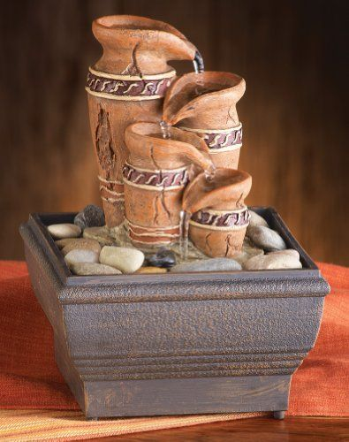 Indoor fountains  - Pin it :-) Follow us, CLICK IMAGE TWICE for Pricing and Info . SEE A LARGER SELECTION of indoor fountains at http://azgiftideas.com/product-category/indoor-fountain/  - gift ideas , home decor   -   Collections Etc - Southwest Mesa Tabletop Fountain