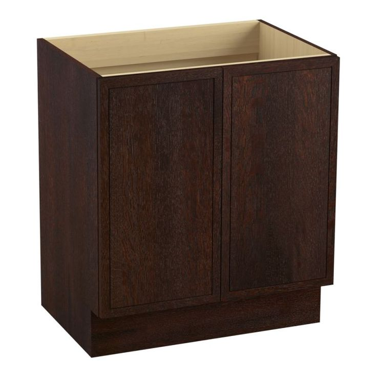 "Kohler K-99502-TK Jacquard 30"" Vanity Cabinet Only - Toe Kick Installation Type Woolen Oak Fixture Vanity Single"