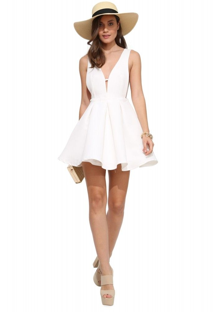 Darling Heart Throb Cocktail Dress in White | Necessary Clothing