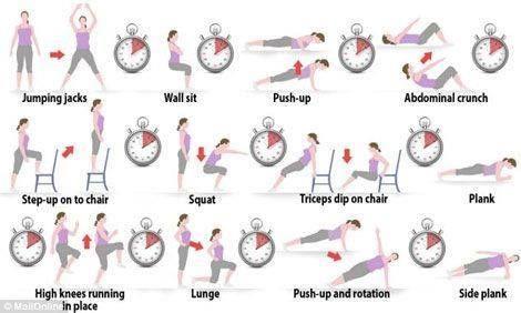 7 minute workout! Ideaal om thuis wat aan sport te doen om fit te blijven!
