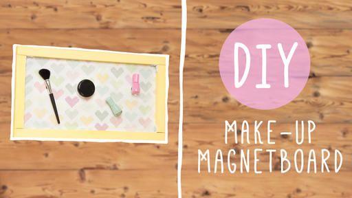diy deko make up magnetboard selber bauen selfmade magnetboard deko und. Black Bedroom Furniture Sets. Home Design Ideas