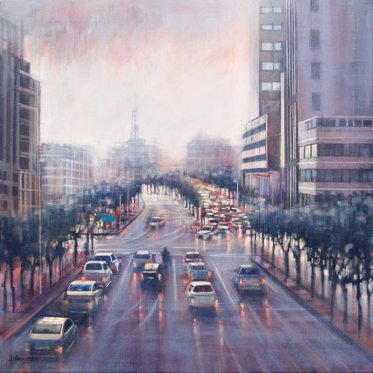 Buitengracht Street, Cape Town - oil painting by Karen Wykerd