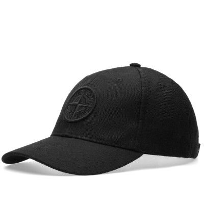 Stone Island Logo Cap (Black)