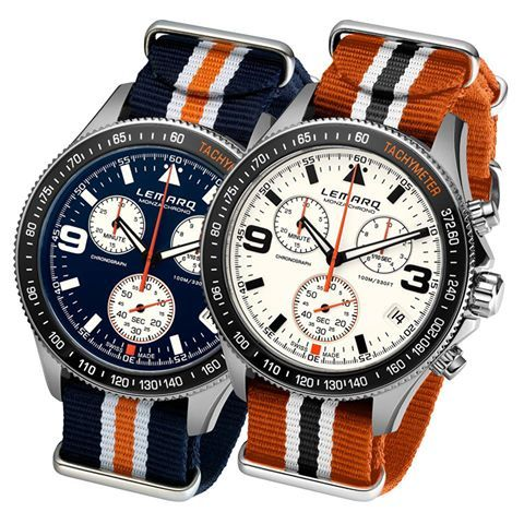 Blue or Orange? You decide! www.lemarqwatches.com