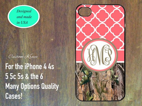 iPhone 4 4s 5 5s 5c 6 Case cute Quatrefoil monogram by customKraze