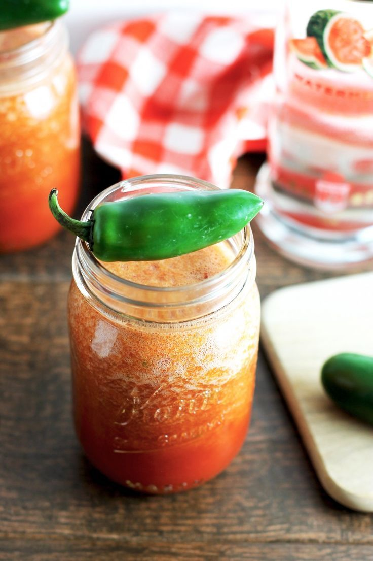 awesome Looking for the perfect daytime cocktail? This watermelon jalapeno bloody mary i...