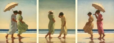 Summer Days Triptych  Artist: Jack Vettriano