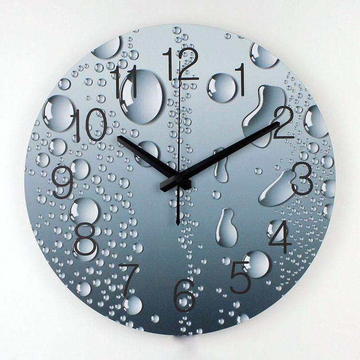 water themed clock httpswalldecordealscomwholesale designer wall modern wall clocks - Modern Designer Wall Clocks