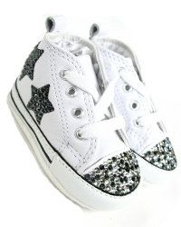 Rhinestone Baby Converse Shoes Adorable