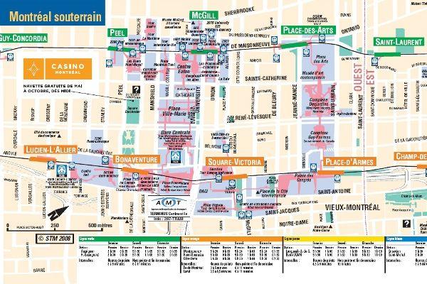 Montreal's underground City Map